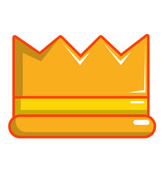 Knight crown icon cartoon style vector