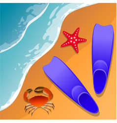 llustrations at the beach theme summer vacation vector image
