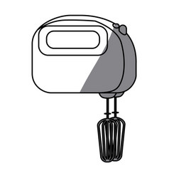 Monochrome silhouette with kitchen mixer vector