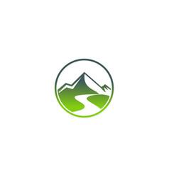 mountain abstract travel logo vector image vector image