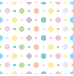 Polka dots and circles seamless pattern vector