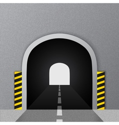 Road tunnel vector image