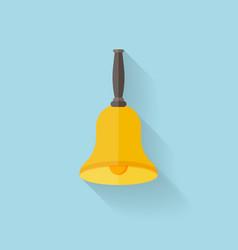 School bell flat icon vector