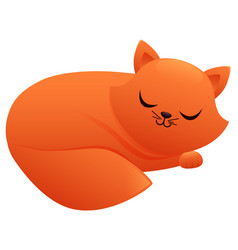 sleeping cat cute cartoon character vector image vector image