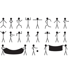 Stick people vector image