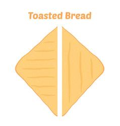 toast fried bakery cartoon flat style vector image vector image