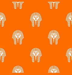 Tutankhamen mask pattern seamless vector