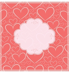 Valentines day card and seamless pattern vector image vector image