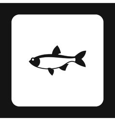 Salmon icon simple style vector