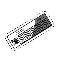 Piano instrument isolated icon vector