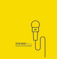 microphone with a wire vector image
