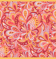 seamless pattern ethnic floral rosy and yellow vector image
