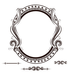 vintage frame with ornament vector image