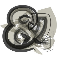 Abstract ampersand symbol vector