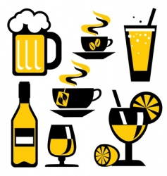 icons drink vector image