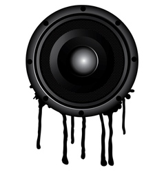 Black speaker and splash vector