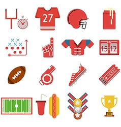 Colored icons for american football vector