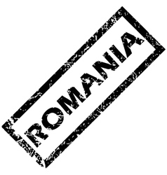 Romania stamp vector