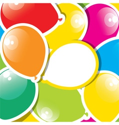 Colorful paper balloons vector
