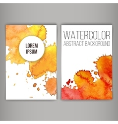 Design brochure or business card with stains vector