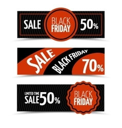 Black friday horizontal banners set vector