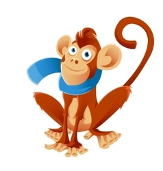 Monkey and the scarf vector