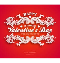 Bright red valentines card vector