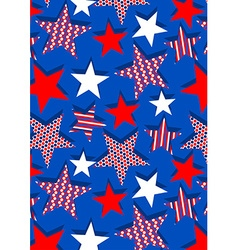 Stars with stipes and dots repeat pattern vector