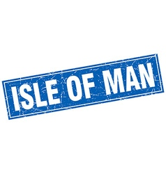 Isle of man blue square grunge vintage isolated vector