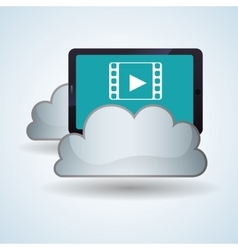 Cloud computing design trip icon flat vector