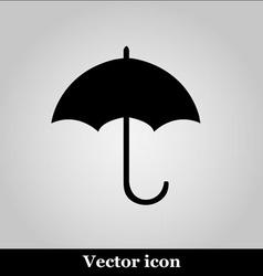 Umbrella black modern web design icon vector