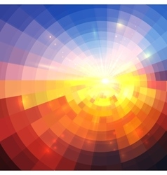 Abstract sunset effect technology concentric vector image vector image