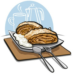 apple strudel vector image