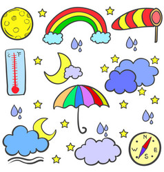 Art of weather style doodles vector