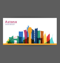 astana colorful architecture vector image