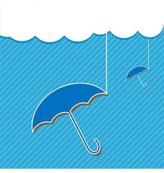 Blue umbrella and Cloud vector image