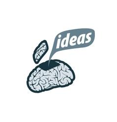 brain logo vector image vector image