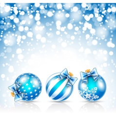 Christmas blue bals vector image vector image