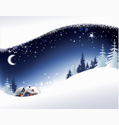 Christmas landscape background vector