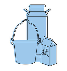 cow milk set packings vector image