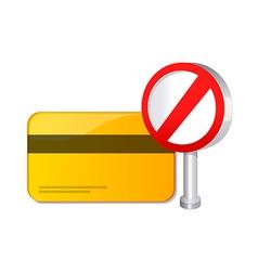 Credit card ban vector