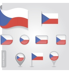 Czech Republic flag icon vector image