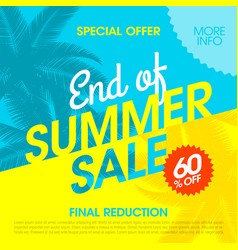 End of summer sale banner design template vector