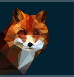 Fox head low poly vector