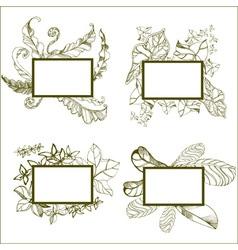 Frames flower 02 vector image vector image