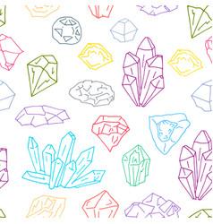gems pattern 1 vector image vector image