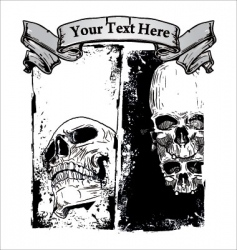 grunge skull background vector image vector image