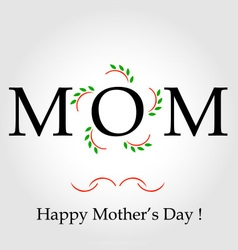Happy mothers day greeting vector