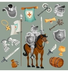 Knights Cartoon Set vector image