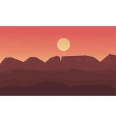 Landscape mounatin and hill at sunset of vector